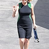 Amy Poehler got back to work on the set of Parks and Recreation.