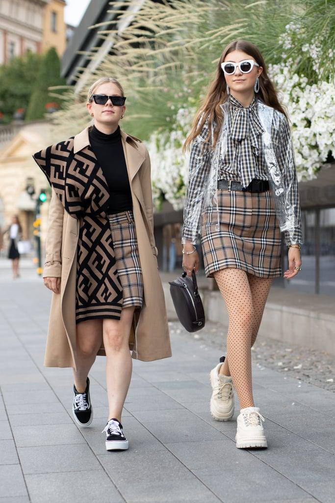A plaid miniskirt feels fashion-forward and nostalgic all at once.