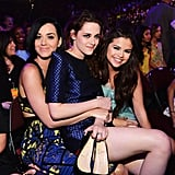 Kristen Stewart took a seat on Katy Perry's lap in the audience with Selena Gomez close by.