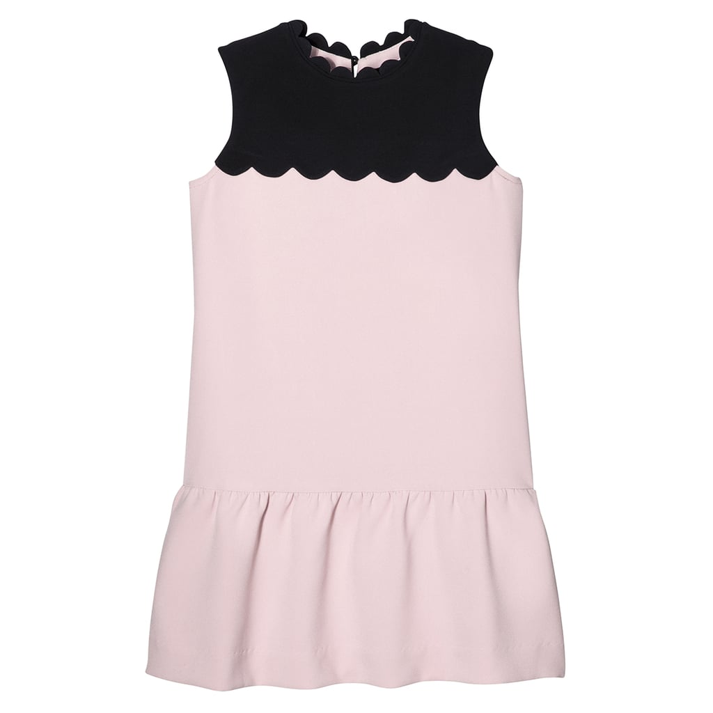 Girls' Blush Drop Waist Scallop Trim Dress ($28)