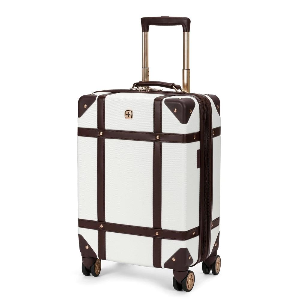 a1d212a55607 SwissGear Trunk Hardside Carry-On Suitcase in Swiss Coffee