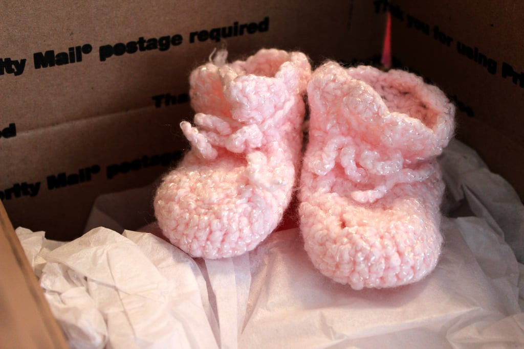 Mail Relatives a Pair of Baby Booties