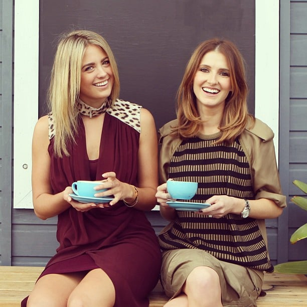 Ladies who lunch! Jesinta Campbell and Kate Waterhouse were looking stylish as ever as they enjoyed a cup of tea together. Source: Instagram user katewaterhouse7