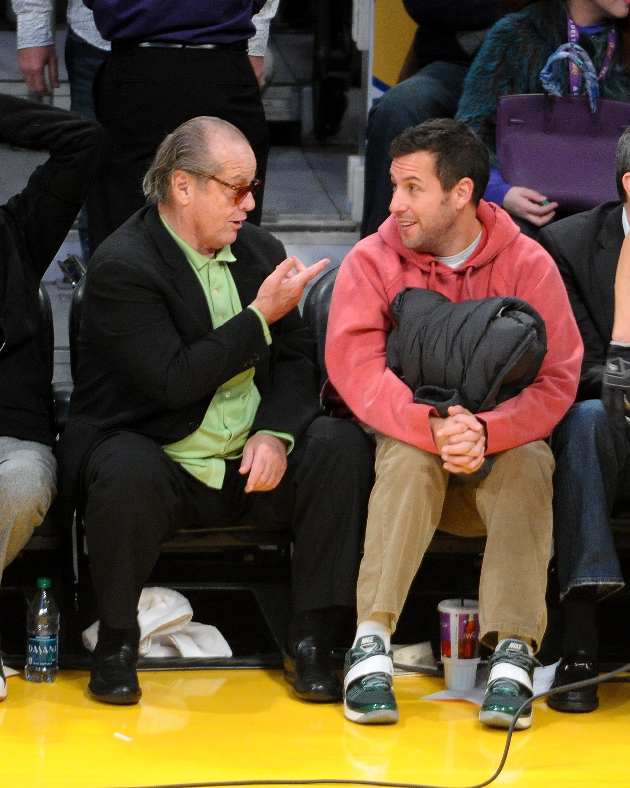 Jack Nicholson And Adam Sandler Seemed To Have A Serious Conversation It S March Madness See Stars Sitting Courtside Popsugar Celebrity Photo 25