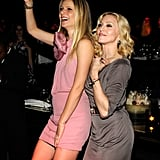 They may not be close anymore, but Gwyneth and Madonna were as friendly as ever as they hit the dance floor together during Madonna and Gucci's UNICEF benefit concert in February 2008.
