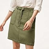 Loft Belted Cargo Skirt