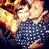 Derek Blasberg kicked it with pal Karlie Kloss at the launch of her Forever Karlie jean collection. Source: Instagram user derekblasberg