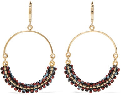 These Isabel Marant gold-toned beaded hoop earrings ($165) were made to be worn with your favorite jean jacket.