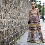 Valentino dress at Paris Fashion Week