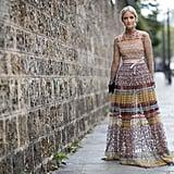 Valentino dress at Paris Fashion Week
