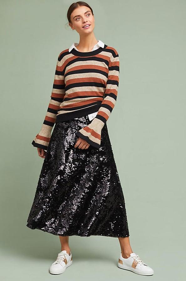 Just Female Minuit Sequined Skirt