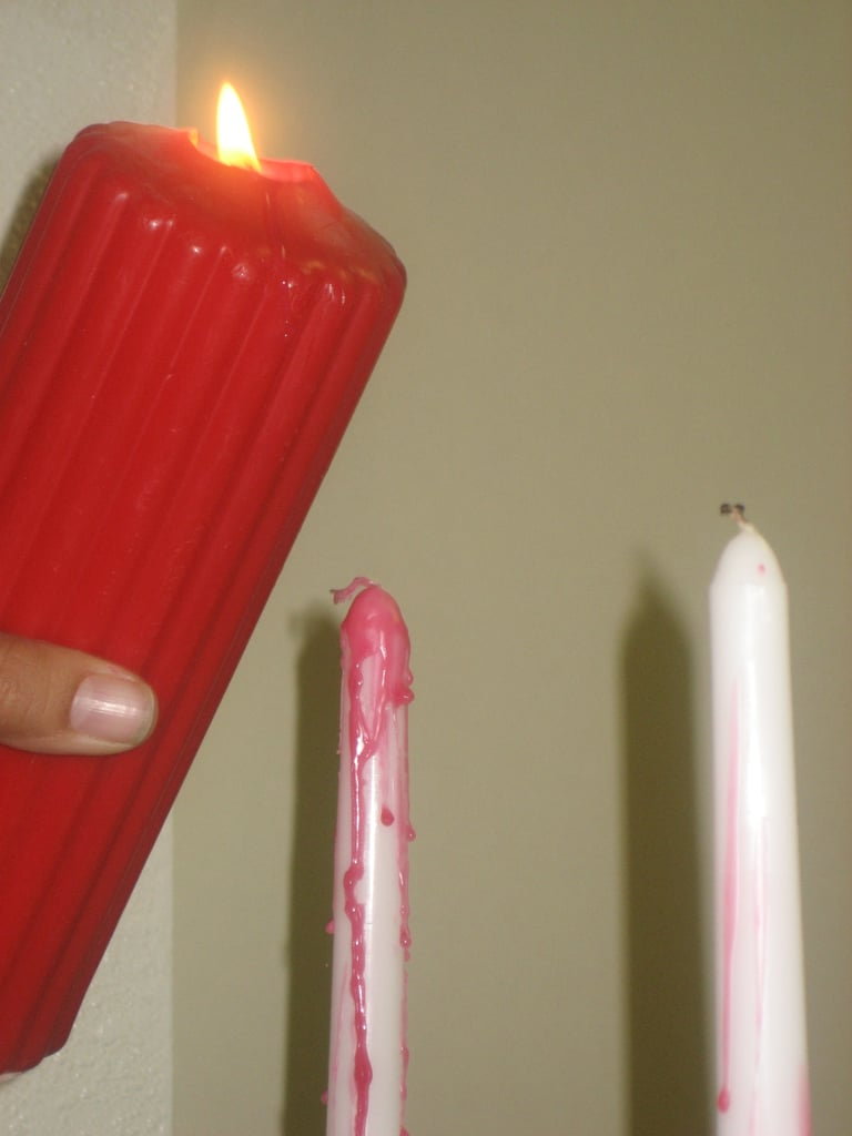 DIY Bloody Halloween Candles