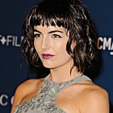 Camilla Belle tried something different with her new blunt bob. She wore her dark brunette strands in loose waves, while her makeup was also quite daring with a bold fuchsia lip hue.
