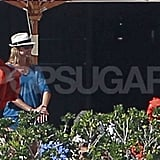 Stacy Keibler talked to friends in Cabo.