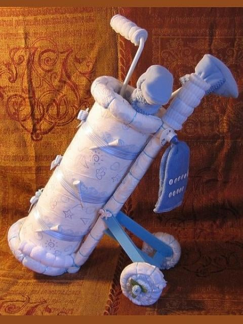 Instructions To Make A Golf Cart Diaper Cake