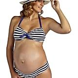 PEZ D'OR Maternity Rimini Textured Marine Striped Bikini