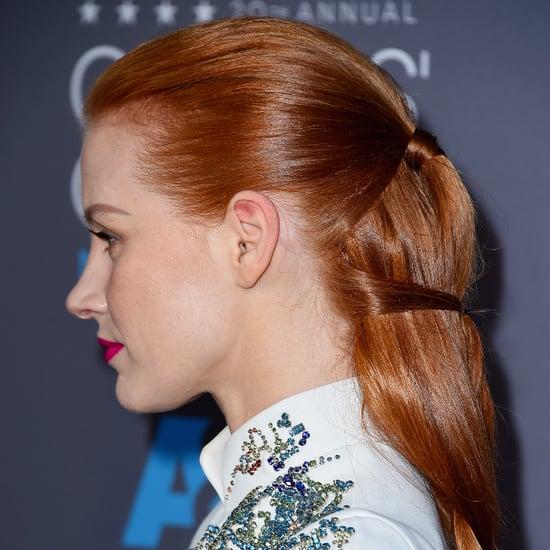 Jessica Chastain's Braided Hair at the Critics' Choice