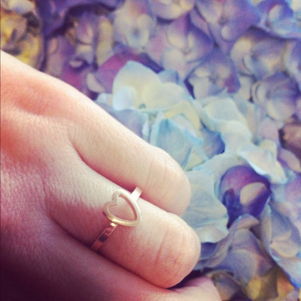 Kate Waterhouse's ring. We want it! Source: Instagram user katewaterhouse7
