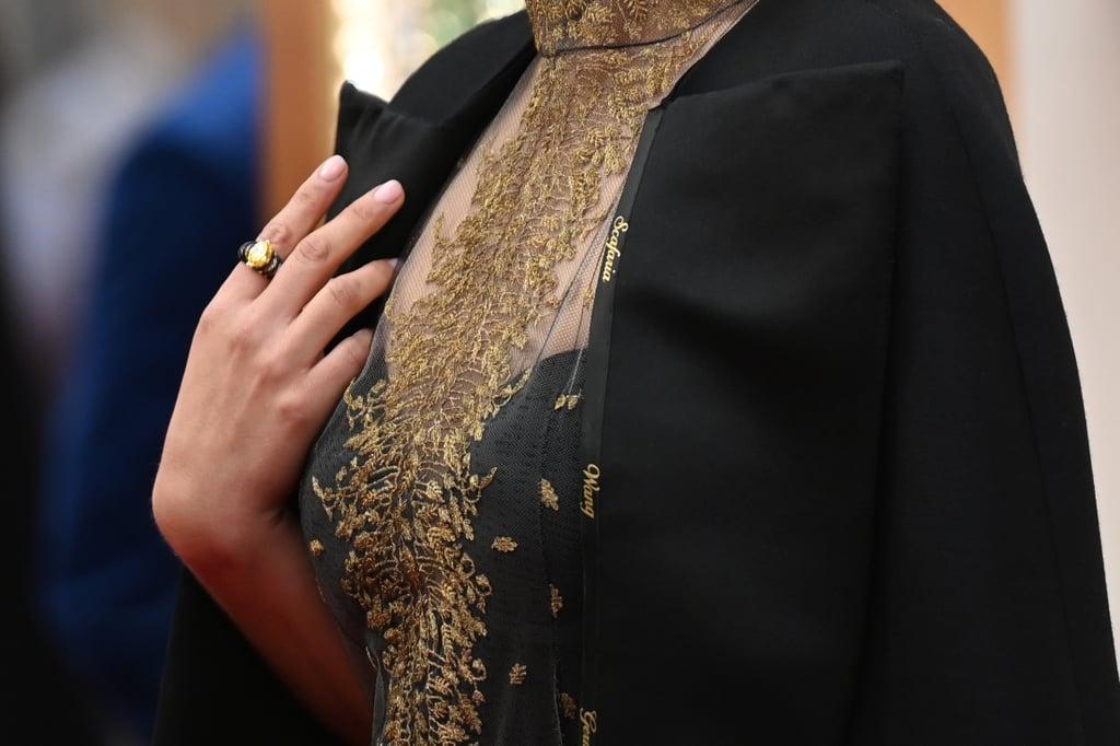 Natalie Portman's Oscars Cape With Female Directors' Names