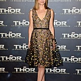 Natalie Portman wore Dior to the Paris premiere of Thor: The Dark World on Wednesday.
