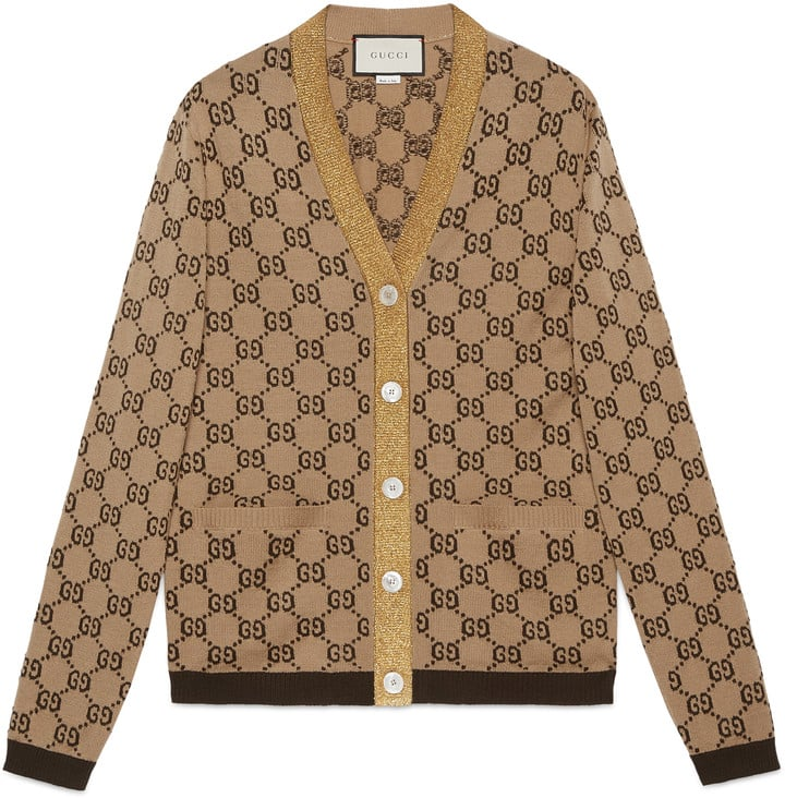 c535901f458 Gucci GG Jacquard Wool Cardigan | Best Sweaters For Women | POPSUGAR ...