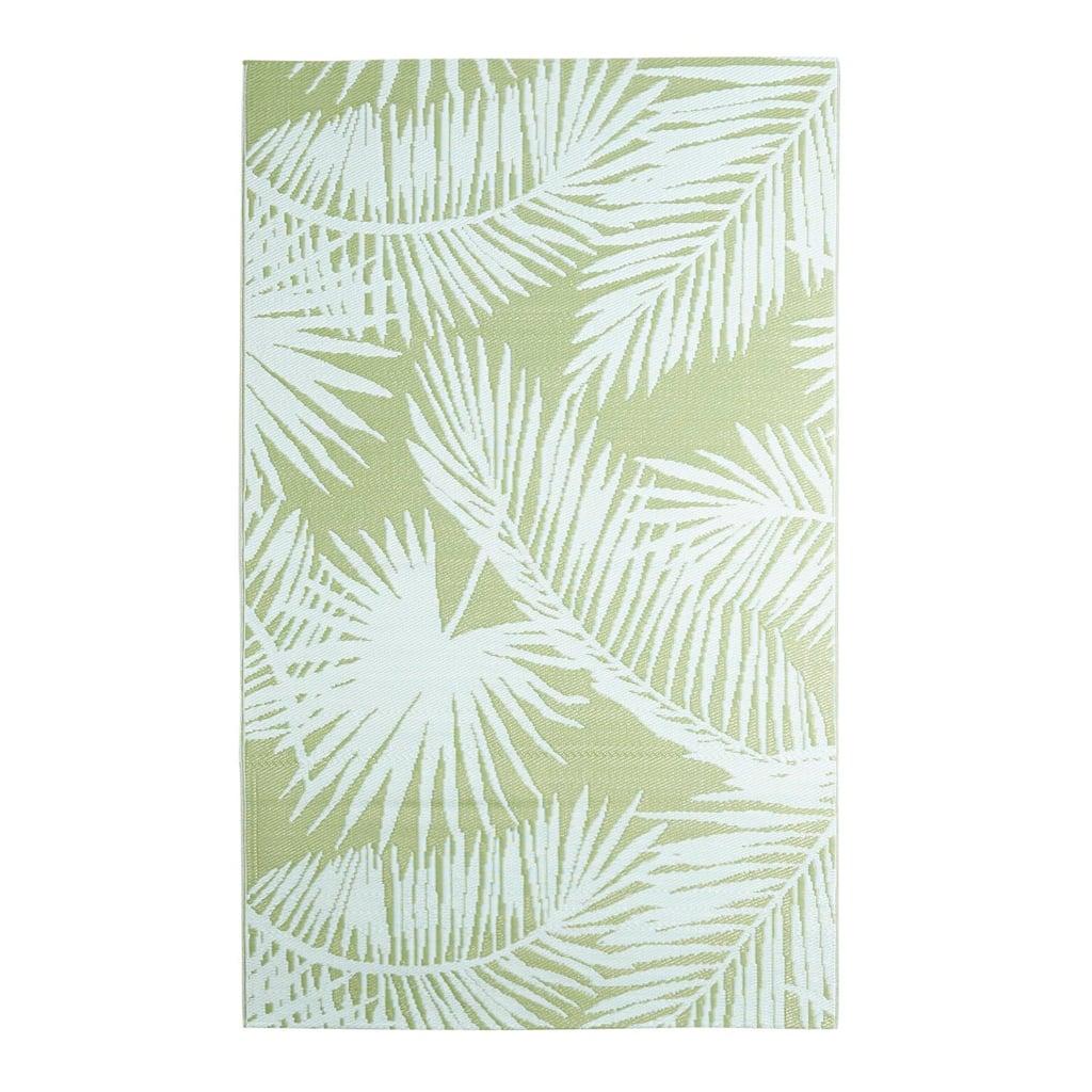 Palm Leaves Green Rug