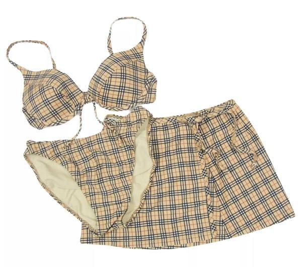 Kourtney's Exact Burberry Bikini Set