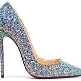 Christian Louboutin So Kate Dragonfly 120 Glittered Leather Pumps - Blue