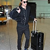 Robert Pattinson touched down in London on Tuesday.