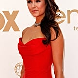 Nina Dobrev Goes Bright Red and Strapless to Kick Off the Emmys!