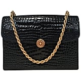 Gucci Vintage Black Alligator Handbag