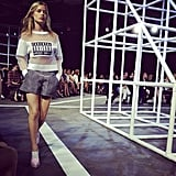Sporty silhouettes at Alexander Wang.