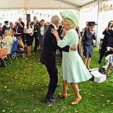 Camilla and Royal Navy Veteran Jim Booth in Somerset in August 2015