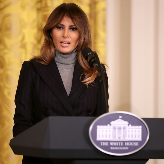 Melania Trump's Gray Turtleneck Sweater