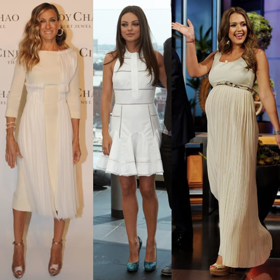Celebrities in White Dresses