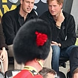 On Thursday, William stayed by Harry's side during an event for the Games.