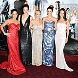 Pictured: Michelle Rodriguez, Gal Gadot, Elsa Pataky, Gina Carano, and Jordana Brewster