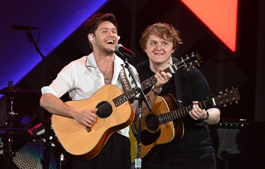 "Niall Horan and Lewis Capaldi Singing ""Teenage Dream"" Video"