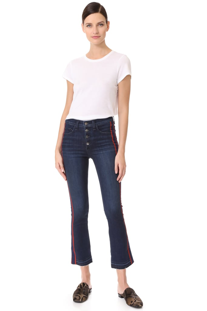 Veronica Beard Jean Carolyn Jeans With Tux Stripe