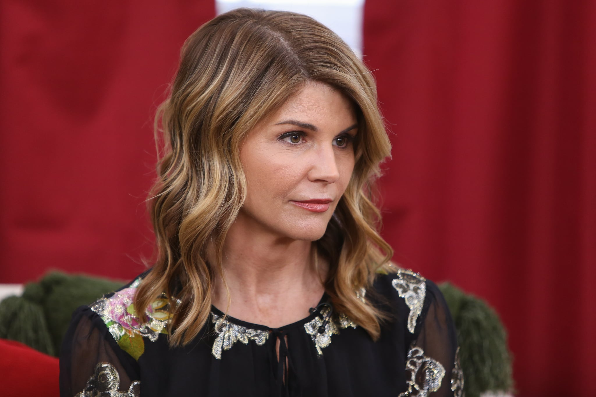 UNIVERSAL CITY, CALIFORNIA - DECEMBER 19: Actress Lori Loughlin visits Hallmark's