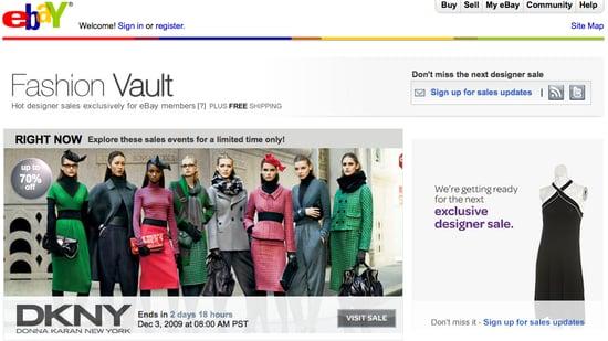 High-End Designer Online Sale Site, eBay Fashion Vault