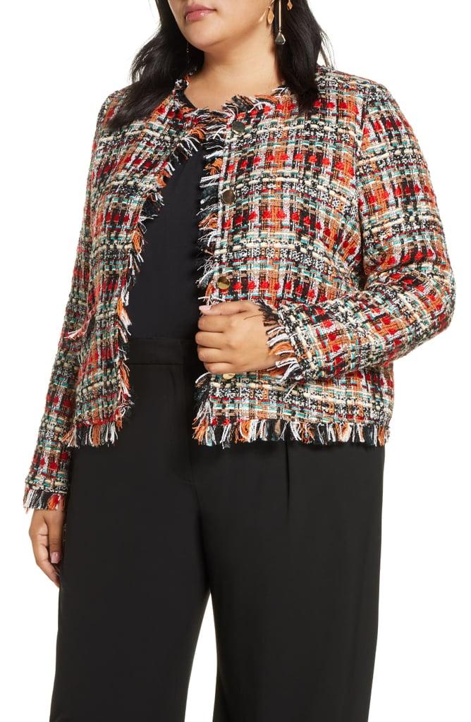 Halogen Tweed Plus Size Blazer