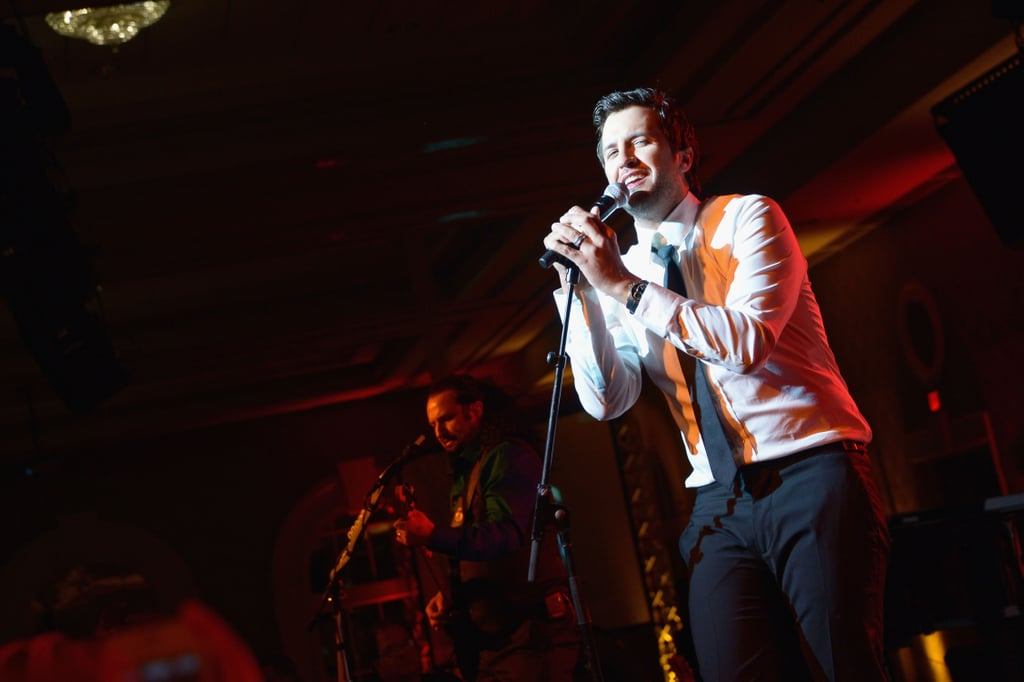 Luke Bryan took the mic at the Unbridled Eve Gala on Friday.