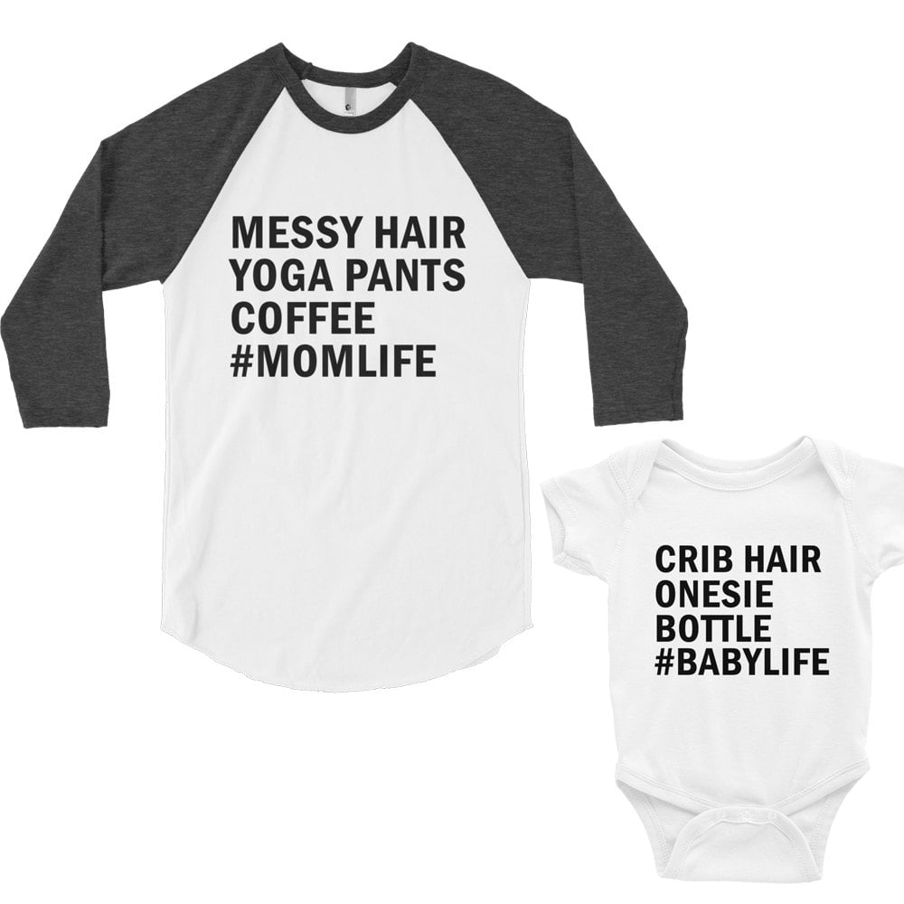 Mommy and Me Shirt and Onesie Set