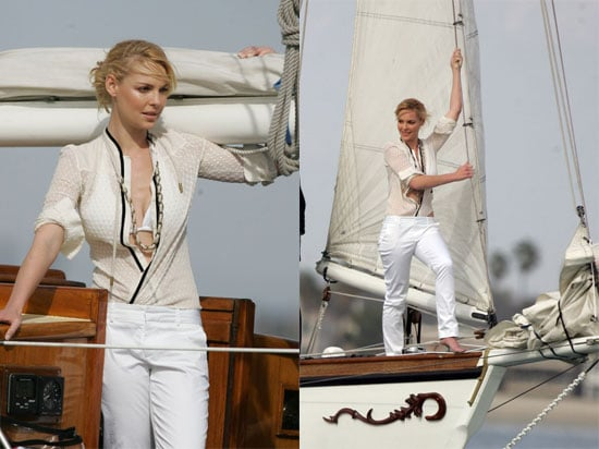 Katherine Gets Nautical While Costars Sing Her Praises