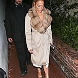 J Lo's Fur-Collar Coat