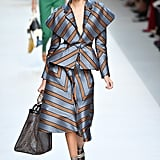 Kaia Opened the Fendi Show in Striped Separates at Milan Fashion Week