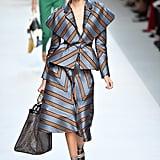 Kaia Opened the Fendi Show in Striped Separates at Milan Fashion Week