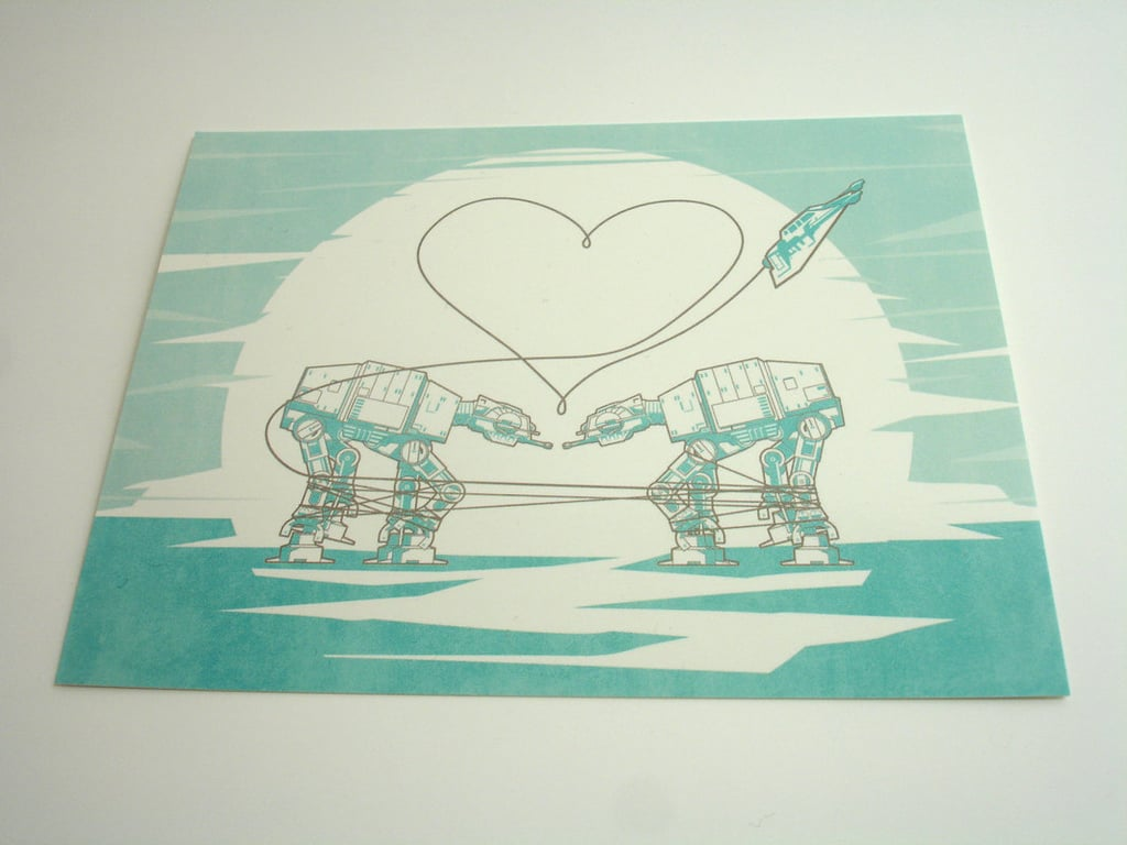 AT-AT Love Postcard ($2) Also available as a eight-pack ($10).