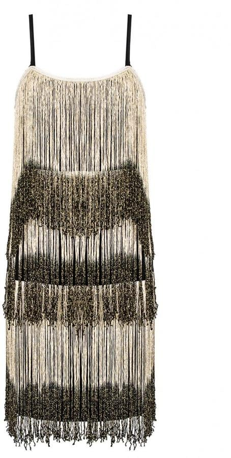20b236759c76 Quiz Black and Gold Fringe Flapper Dress (£35) | 50 Cheap Christmas ...